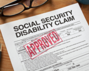 Approved Social Security Disability Claim Form on a desktop